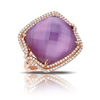 Viola Double Diamond Halo Ring