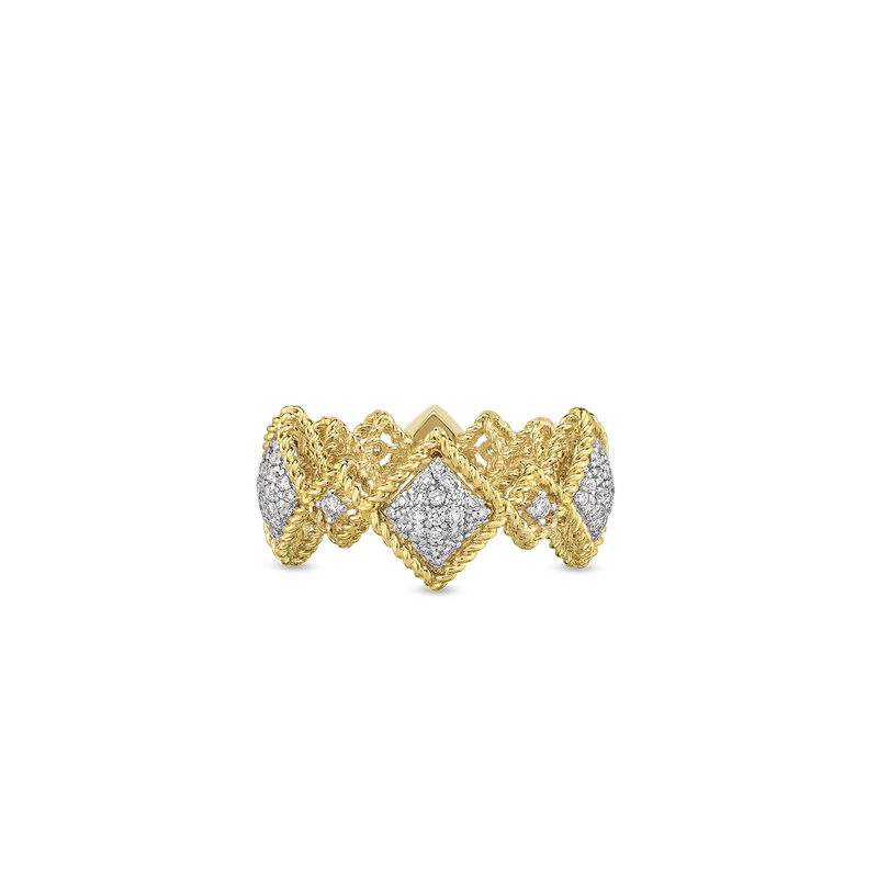 Roberto Coin 18Kt Gold Large Diamond Ring