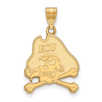 Gold East Carolina University NCAA Pendant