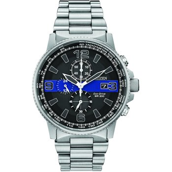 Men's Thin Blue Line™ Watch Chronograph 200M WR Eco Drive
