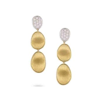 Lunaria Gold & Diamond Pave Small Triple Drop Earrings