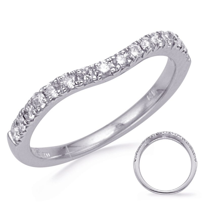 S. Kashi & Sons Bridal White Gold Diamond Wedding Band