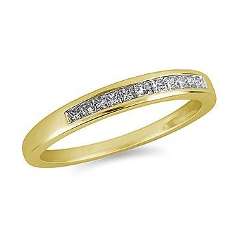 14K YG matching Diamond Wedding Band Prn Diamonds