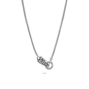 Legends Naga 2.5MM Necklace in Silver with Diamonds