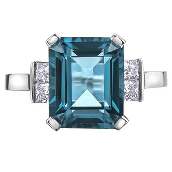 London Blue Topaz Ladies Ring