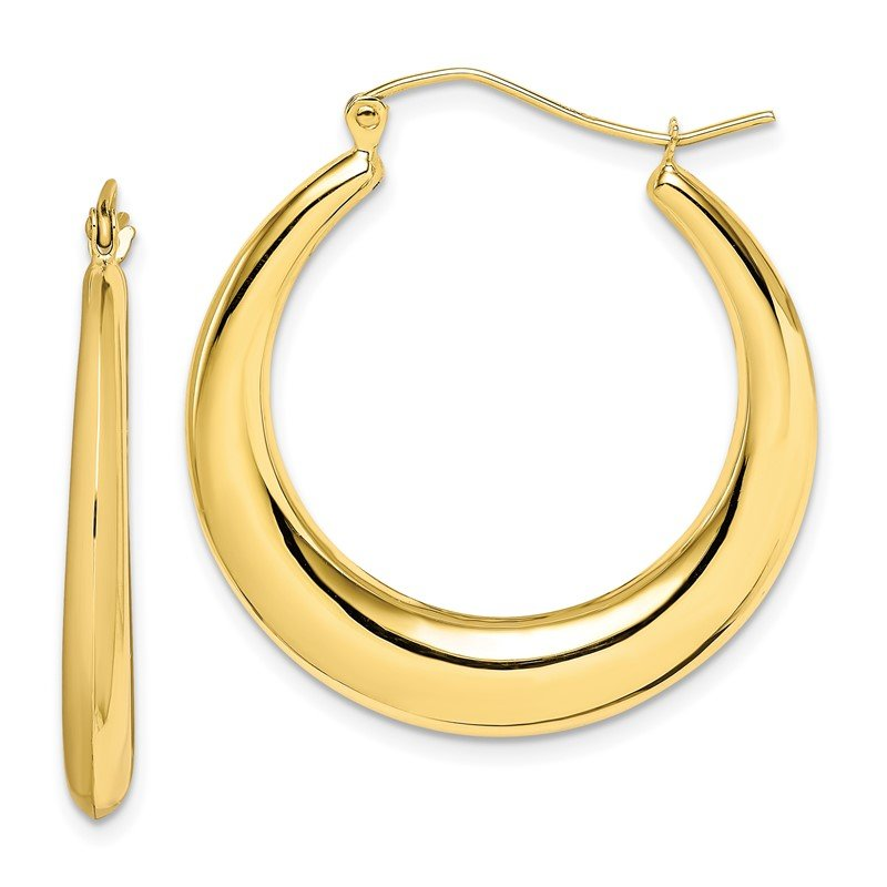 Quality Gold 10k Polished Hollow Classic Earrings