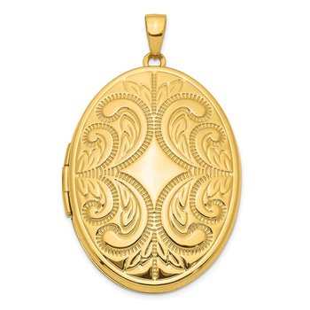 14K 38mm Large Oval Family Locket Pendant