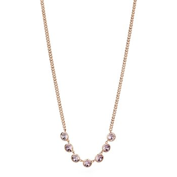 316L stainless steel and antique pink Swarovski® Elements.