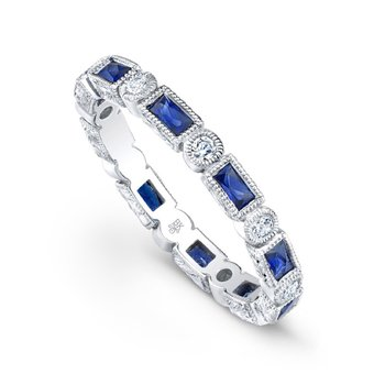 Vintage Diamond and Sapphire Band