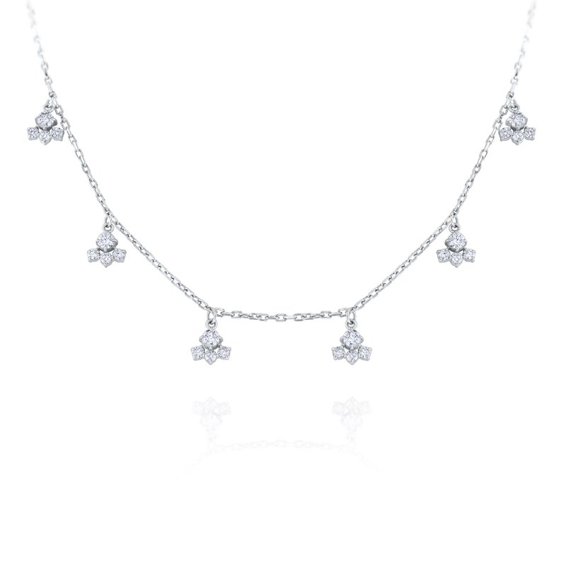 MAZZARESE Fashion 14K Diamond Charm Necklace