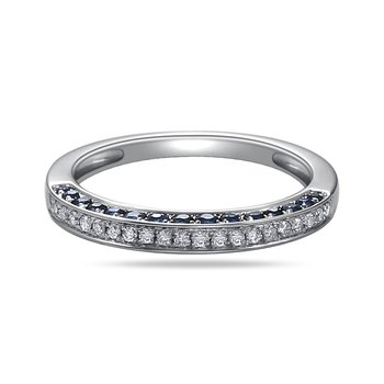 14K Diamond band 51 Diamonds 0.76C