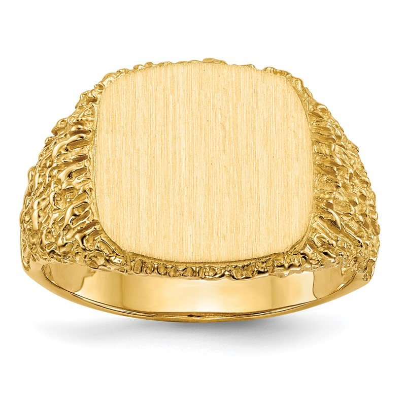 Quality Gold 14k 13.5x13.5mm Open Back Men's Signet Ring