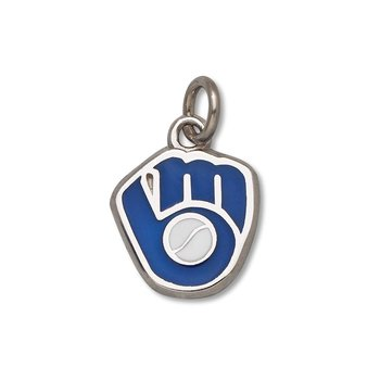 Sterling Silver Milwaukee Brewers MLB Pendant