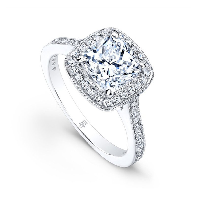 Beverley K Square Halo Bridal Ring