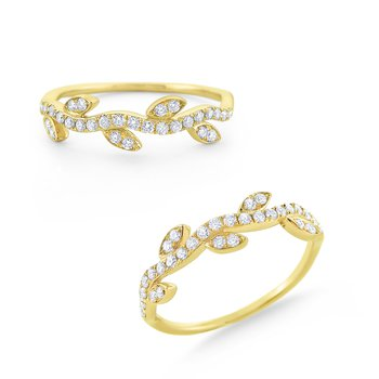 Diamond Vine Ring Set in 14 Kt. Gold