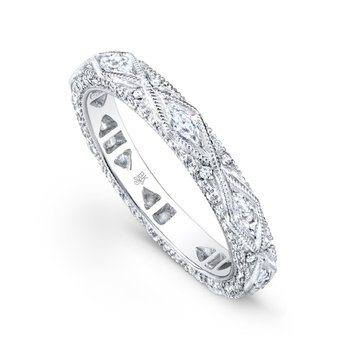 Oval Pave Diamond Band