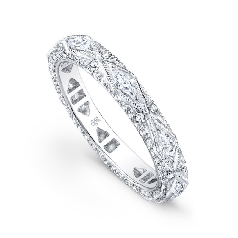 Beverley K Oval Pave Diamond Band