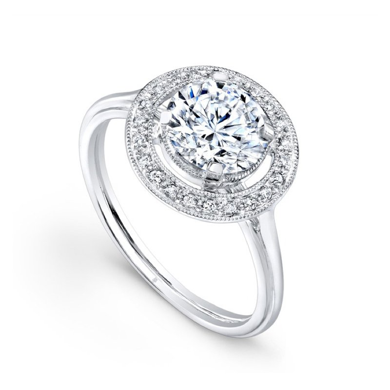 Beverley K Vintage Halo Bridal Ring