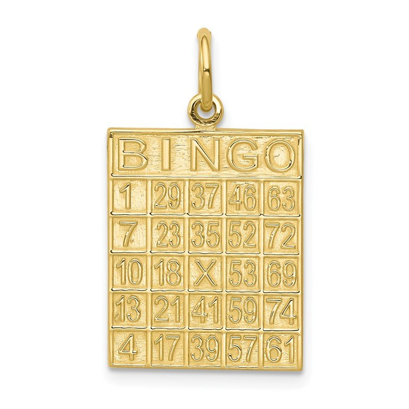 Quality Gold 10k Solid Bingo Card Charm