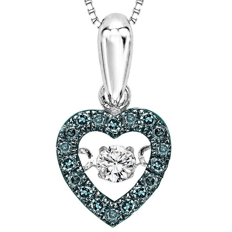 Rhythm of Love 14K Blue & White Diamond Rhythm Of Love Pendant 1/5 ctw