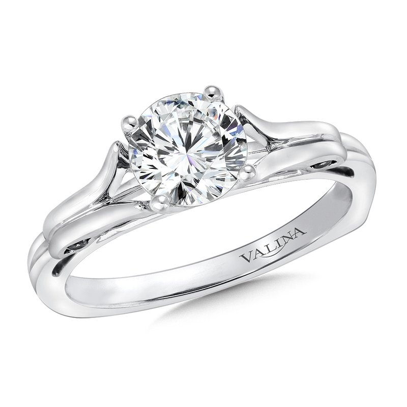 Valina Bridals Solitaire mounting .11 tw., 1 ct. round center.