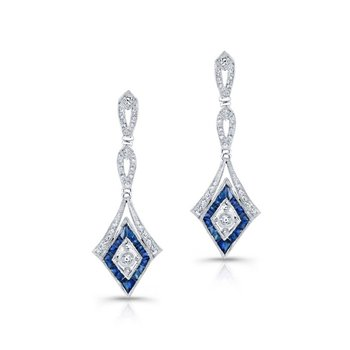Diamond & Sapphire Fashion Earrings
