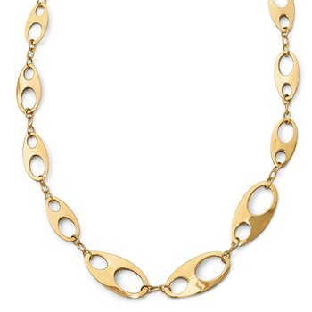 Leslie's 14K Polished w/2in ext. Necklace