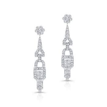 Vintage Inspired Diamond Chandelier Earrings