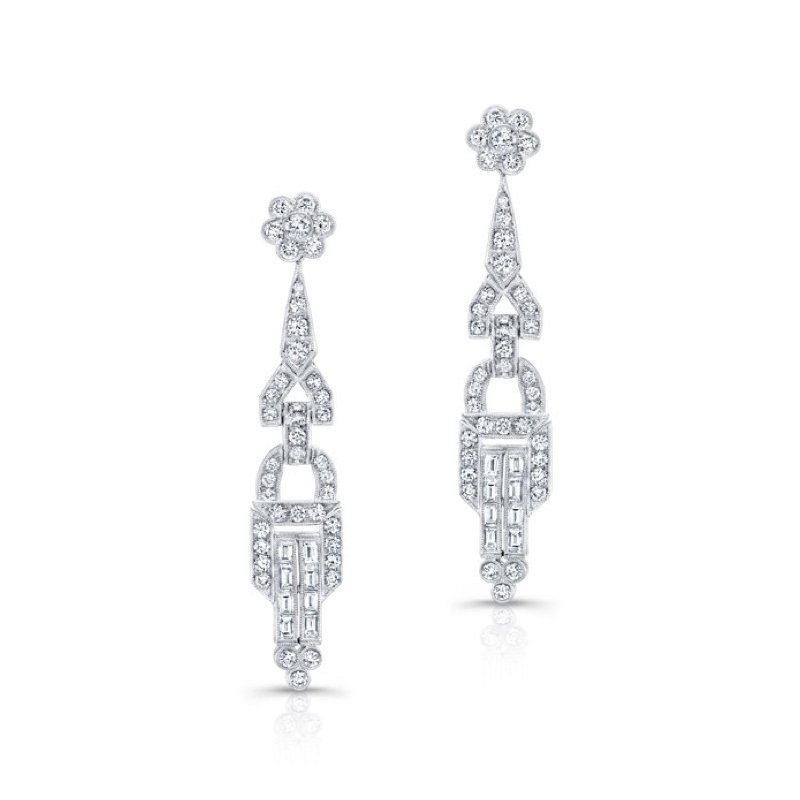 Beverley K Vintage Inspired Diamond Chandelier Earrings