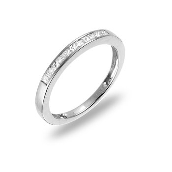 14K WG Princess Diamond Wedding Band