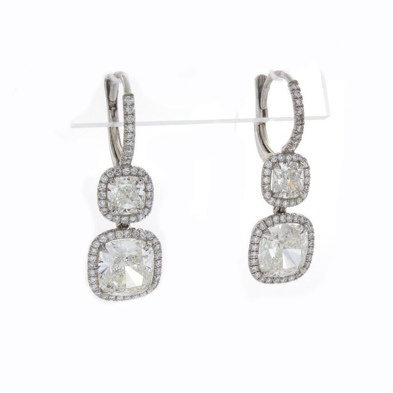 William Levine CUSHION CUT DIAMOND DROPS