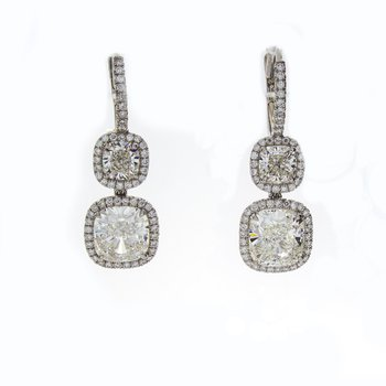 CUSHION CUT DIAMOND DROPS