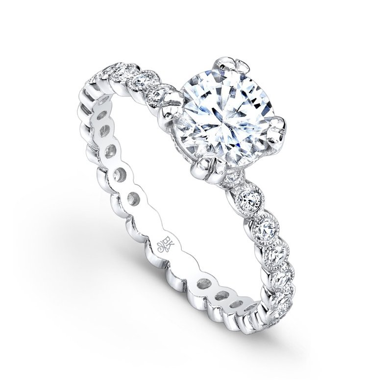Beverley K Bezel Diamond Bridal Ring