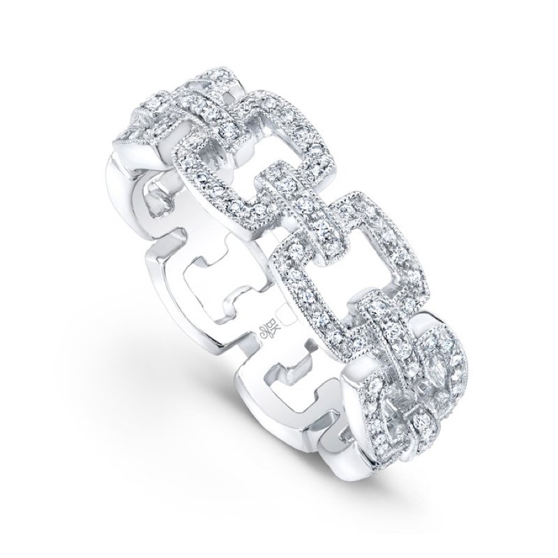 Beverley K Chain Link Diamond Band
