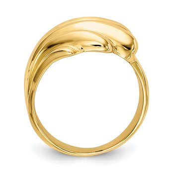 14k High Polished Dome Ring