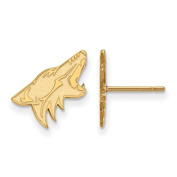 Gold Phoenix Coyotes NHL Earrings