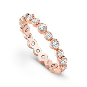 Rose Gold Bezel Diamond Band