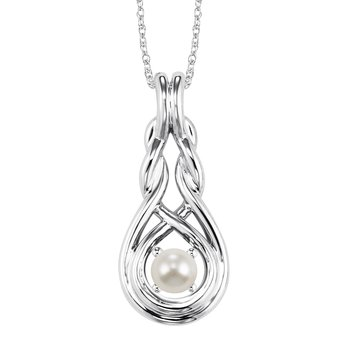 Silver Pearl Pendant ( Available in All Birthstone )