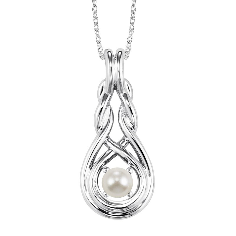 Mixables Silver Pearl Pendant Available In All Birthstone