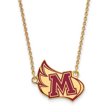 Gold-Plated Sterling Silver Meredith College NCAA Necklace