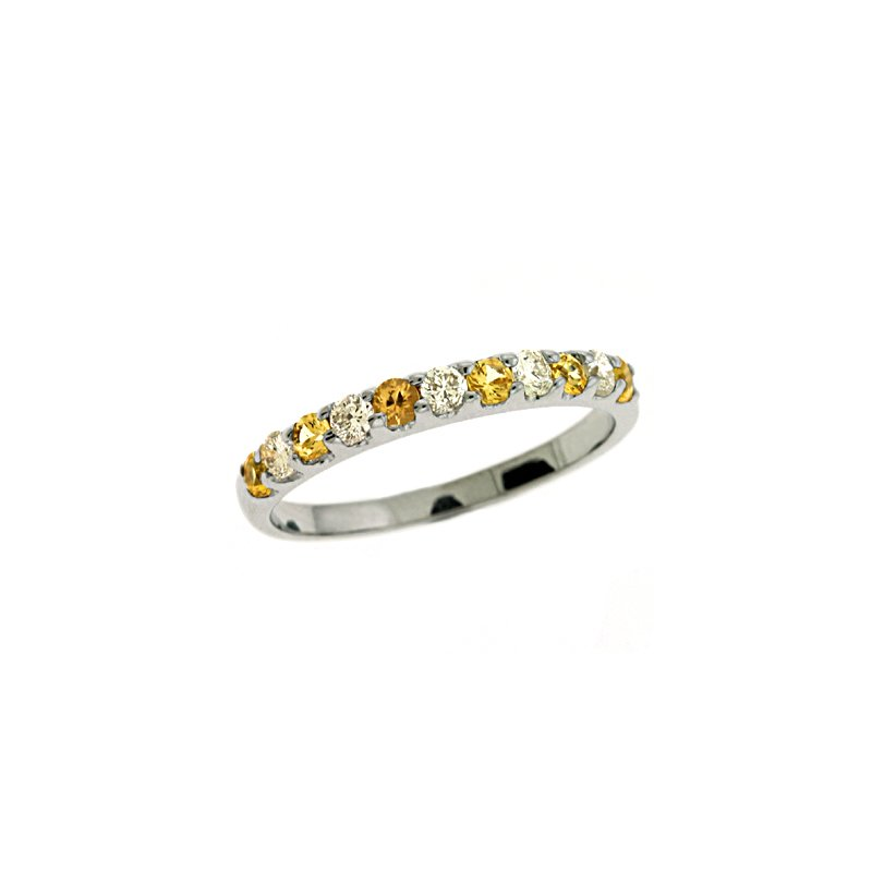 S. Kashi  & Sons Yellow Sapphire Prong Set Band