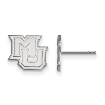 Sterling Silver Marquette University NCAA Earrings