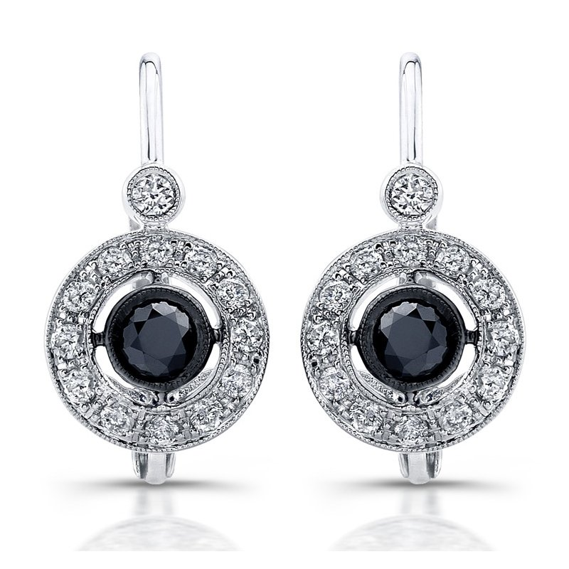 Beverley K White Gold Ruby & Diamond Earrings