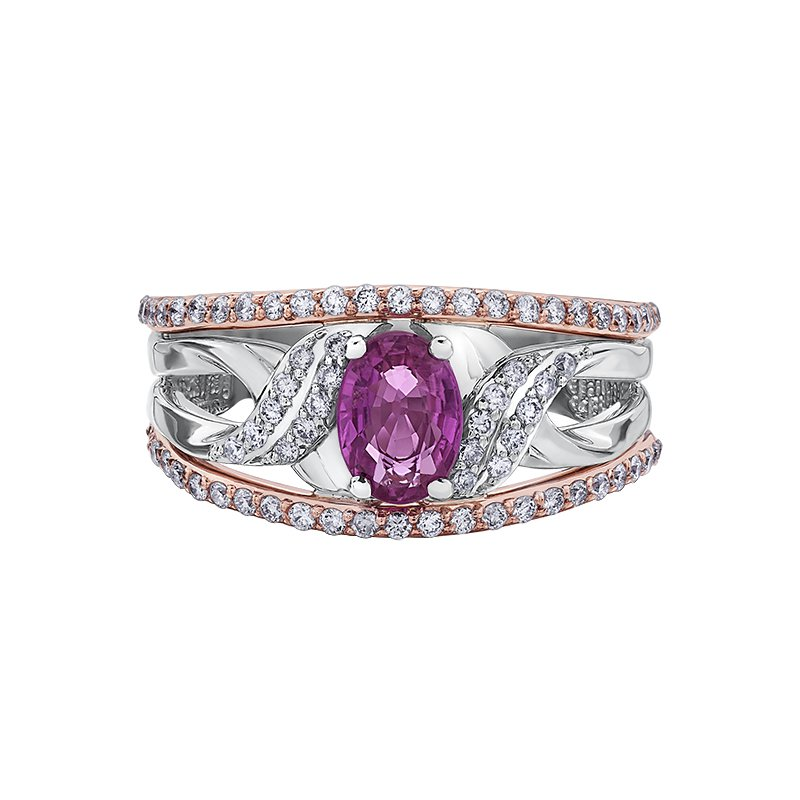 Timeless Beauty Pink Sapphire Ladies Ring