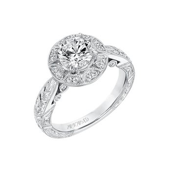 ArtCarved Eleanor Diamond Engagement Mounting