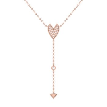 Raindrop Drip Necklace in 14 KT Rose Gold Vermeil on Sterling Silver