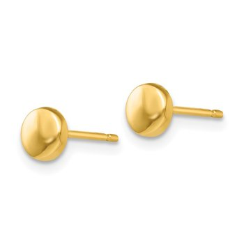 14k Polished Half Ball Post Earrings