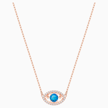 Luckily Necklace, Multi-colored, Rose-gold tone plated