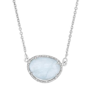 Sterling Silver .055ct. Dia Gem Candy Necklace