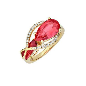 Padparadscha Ring-CR11874YPD